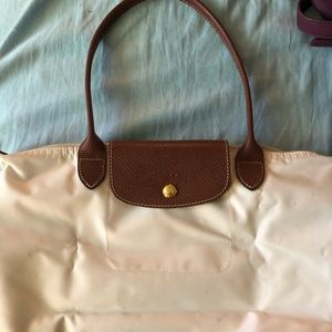 Longchamp Le Pliage small ivory